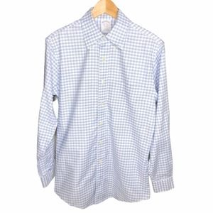 Brooks Brothers Plaid Checkered Button Up Shirt 15